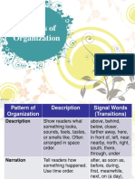 Pattern of Paragraph Development Review