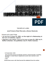EARLY CHILDHOOD AND GENECOLOGY OF Jose P. Rizal