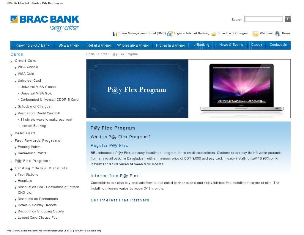 BRAC Bank Limited _ Cards » P@y Flex Program   Credit Card