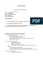 Post Assessment Activity