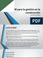 BIM para la gestión en la construcción