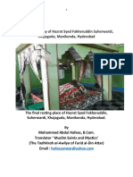 A brief Biography of Hazrat Syed Fakheruddin Suherwardi,Khajaguda, Manikonda Hyderabad