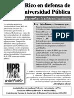 Puerto Rico en defensa de la Universidad Pública