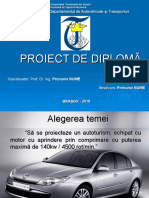 Prezentare proiect diploma sistemul de franare model