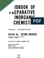 Handbook of Preparative Inorganic Chemistry Vol 1 2d Ed - George Brauer