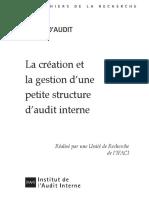 Cahier de la recherche - La création et la gestion d'une petite structure d'audit interne (janvier 2009).pdf