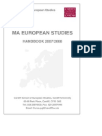 MA European Studies Handbook
