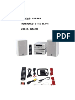 Yamaha E810 User Manual