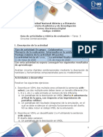 Guía de Actividades y Rúbrica de Evaluación - Tarea 3- Circuitos Combinacionales