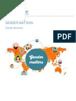 Unitar - Gender Matters