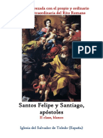 11 de Mayo. San Felipe y Santiago Apóstoles. Propio y Ordinario de la santa misa