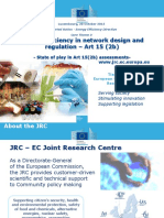Energy Efficiency in Network Design and Regulation - Article 15 (2b)