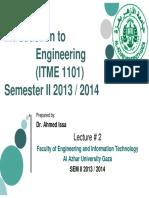 ITME 1101 Lecture 2