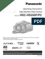 Panasonic Camera HDC - HS250 Operator Manual.pdf