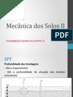 Mecânica dos Solos II Aula 3 - 2020.1