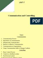 UNIT-7-COMMUNICATION & CONTROLLING.pptx
