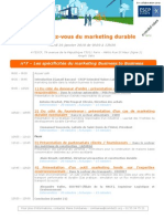 RDV Marketing Durable 26 Janvier 2010