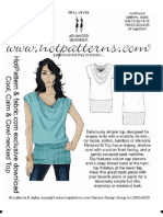 Cowl-Necked Top Pattern and Illustration