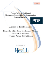 Draft 14 White Paper - Oregon's Health and Mental Health Consultation Systems Planning
