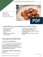 Buñuelos dulces fritos - Recetas de rechupete - Recetas de cocina caseras y fáciles