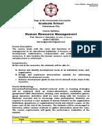 Course Syllabus - Human Resource Management
