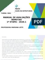 Manual de avaliações remotas - CCA1141 (VIA)