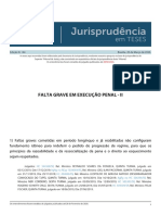 Jurisprudencia em Teses 144 - Falta Grave em Execucao Penal - II
