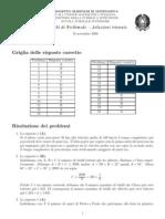 Soluzioni Olimpiadi Matematica Triennio Anno 2008