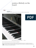 How to Harmonize a Melody on the Piano or Keyboard _ Spinditty