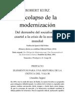 Robert Kurz El Colapso de La Modernización