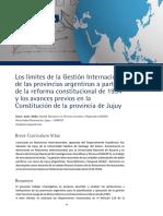 Los limites de la gestión internacional DIFUSIONES UCSE 2017