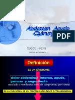 CLASE ABDOMEN   AGUDO  QUIRURGICO