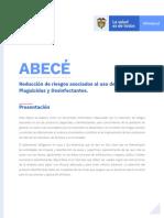 ABECÉ - Reducción de riesgos asociados al uso de productos Plaguicidas y Desinfectantes