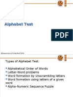 19293_3. UNIT- I Alphabet test