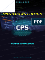 2019-20 Cps Vendor Source Book Spend Down