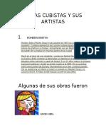 OBRAS CUBISTAS Y SUS ARTISTAS