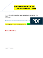 Interpersonal Communication 1st Edition by Teri Kwal Gamble – Test Bank