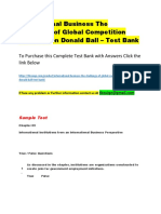 International Business the Challenge of Global Competition 13th Edition Donald Ball – Test Bank