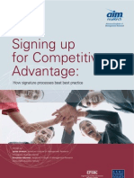 AIM - Signing Up for Comp Advantage (Signature Processes) March 2006