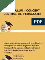 Prezentare_Curriculum - Concept Central Al Pedagogiei