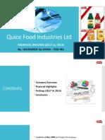 Quice Food Industries Ltd-MAK