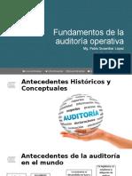 Unidad 1 - Fundamentos de la auditoría operativa