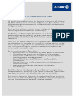 Allianz Datenschutz