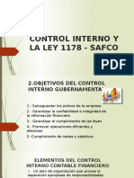 CONTROL INTERNO Y LA LEY 1178 - SAFCO