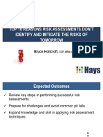 Top 10 Reasons Risk Assessments Don't Work