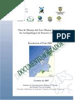 borrador PMA de Islas del Rosario AMP-ARSB