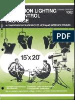 Strand Century Lighting 1062 Television Lighting & Control Package Brochure 6-77