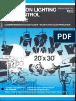 Strand Century Lighting 1063 Television Lighting & Control Package Brochure 6-77