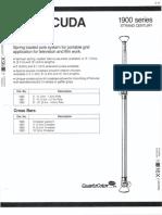 Strand Century Lighting 1900 Series Barricuda Poles Spec Sheet 6-77