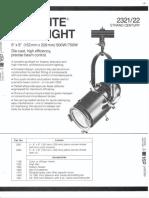 Strand Century Lighting 2321-2322 6x9-Inch Lekolite Ellipsoidal Spotlight Spec Sheet 6-77